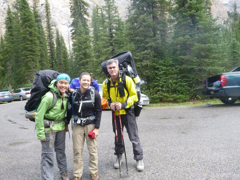 Han, Sammi and Monica in the Yoho Valley