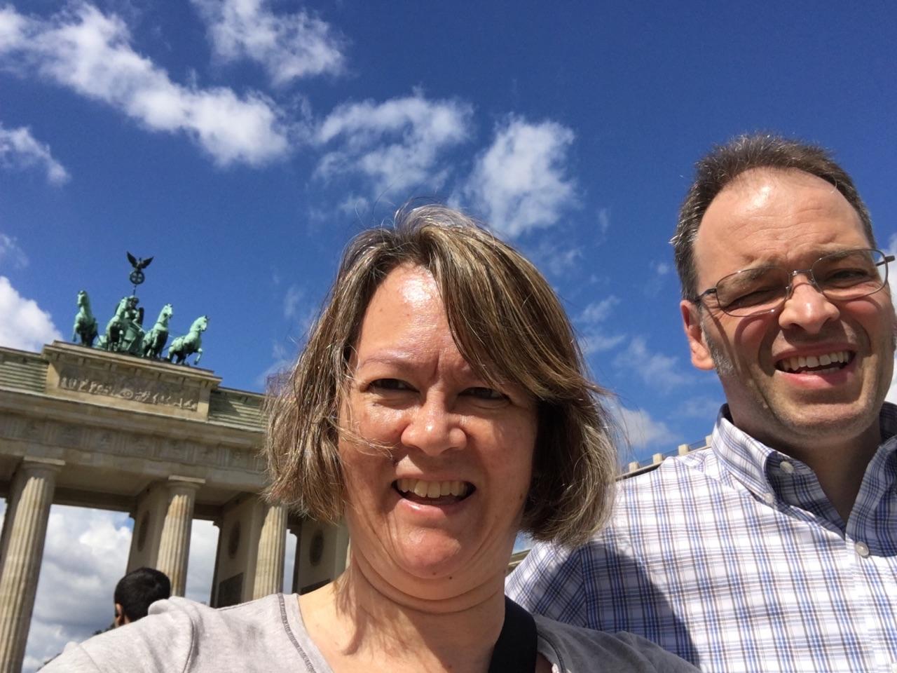 At Brandenburg Gate