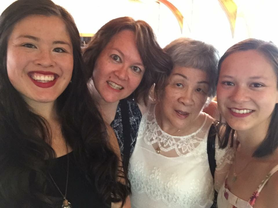 Friesen Ladies. Heidi & Mom with Han's girls, Sammi and Monica