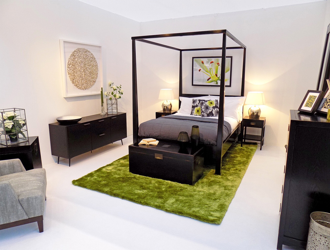 Purity of Nature inspired bedroom by Martyn White Designs