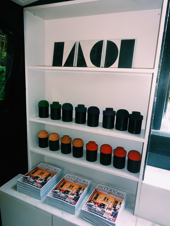 Split Shift tiles and storage jars by Darkroom