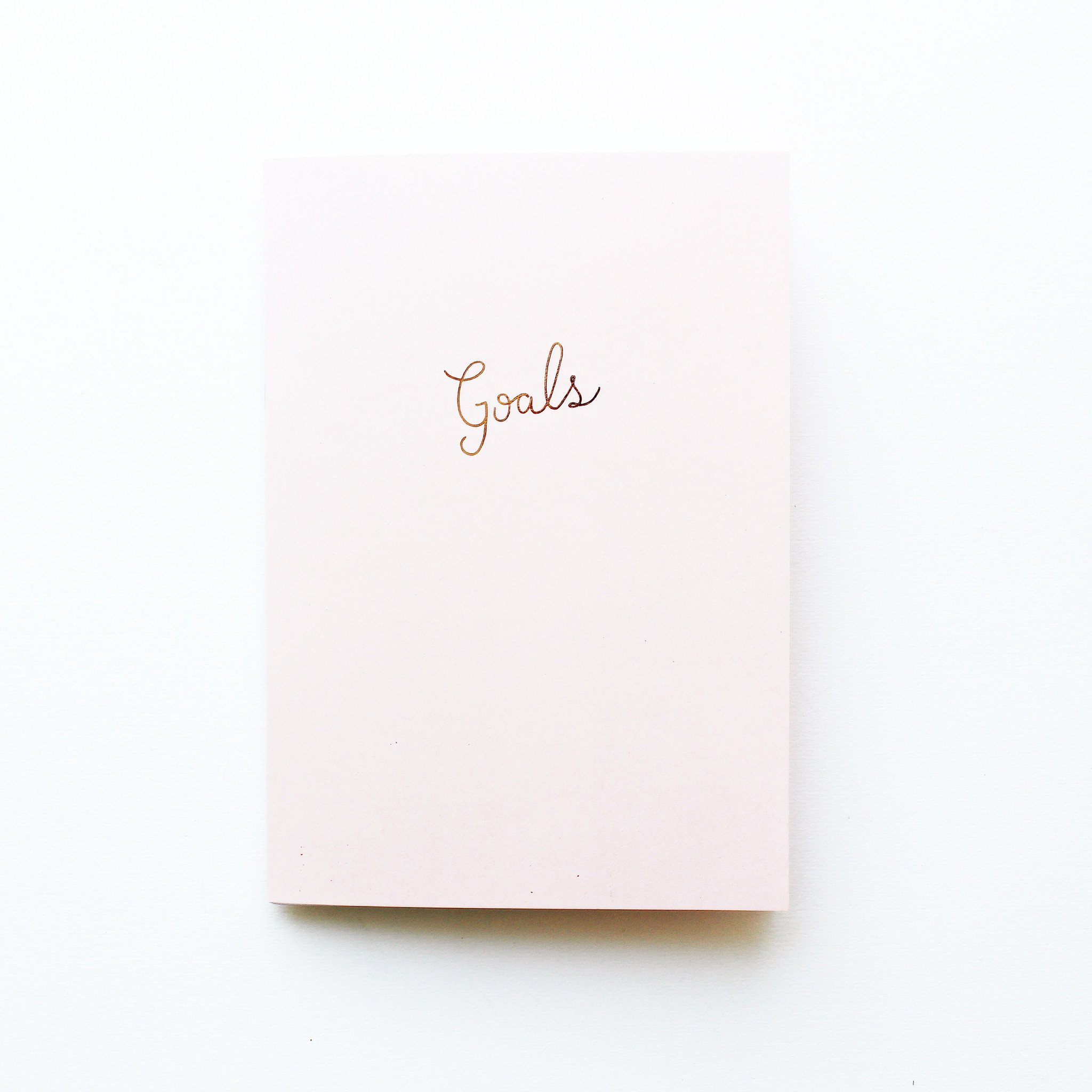 blush goals notebook