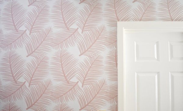 Palm Leaf Garden wallpaper , the best Millennial pink addition to your walls.