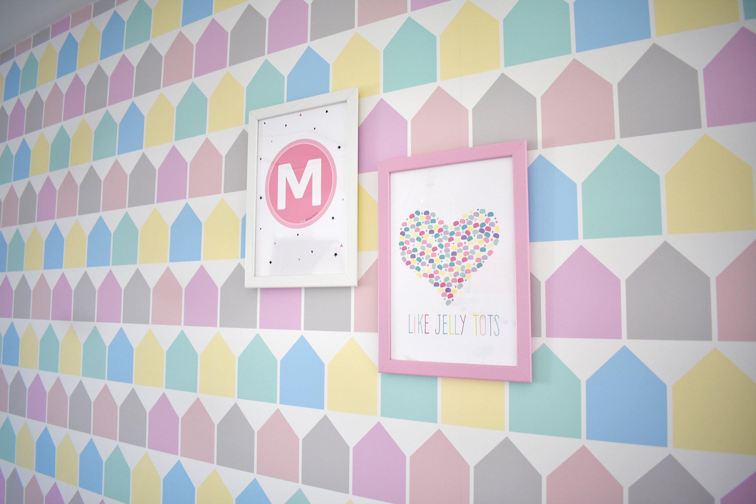 pastel prints nursery bella rose and may