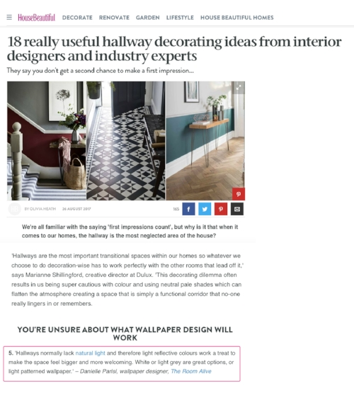 18 useful Hallway Decorating Ideas - House Beautiful August 17