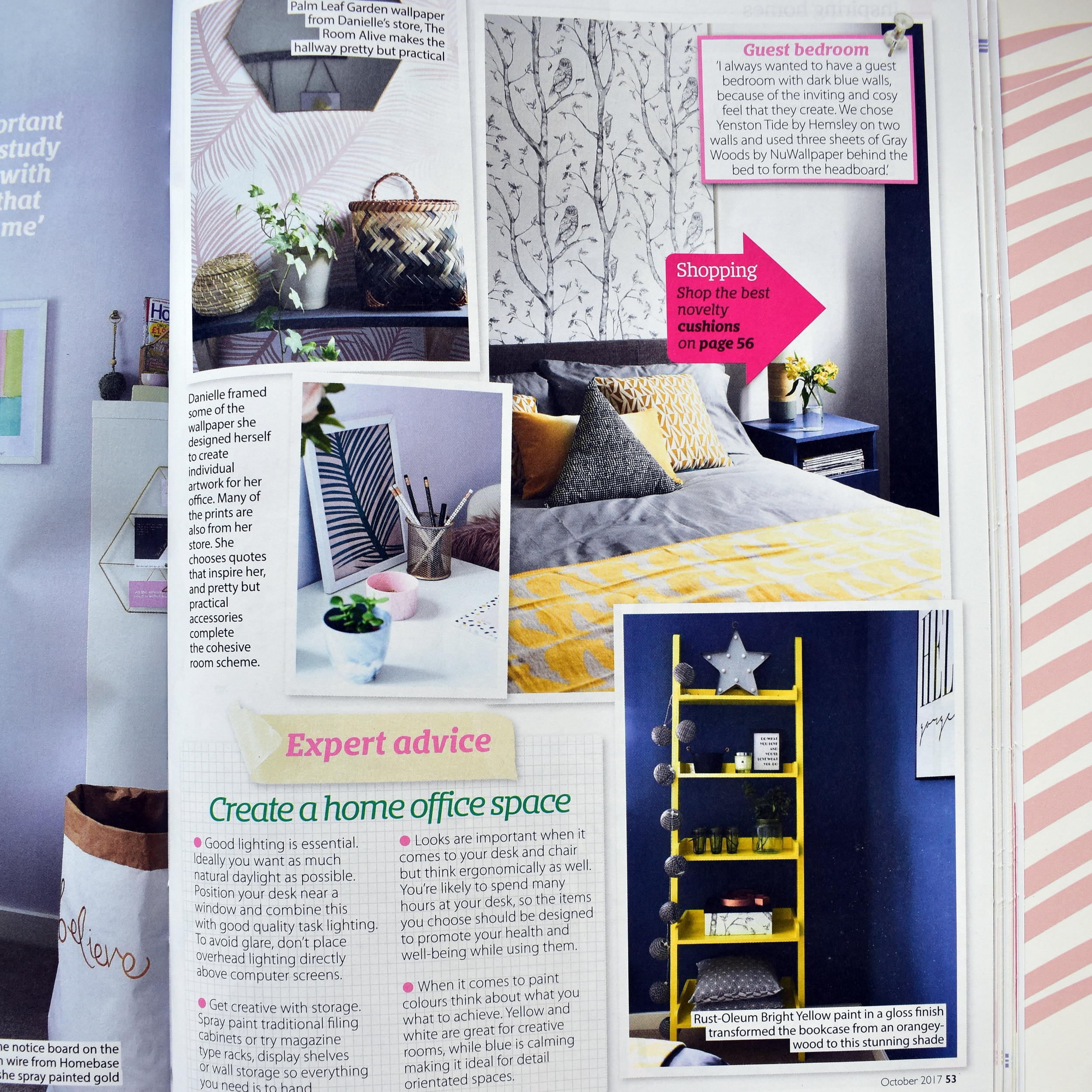 The guest bedroom as it was featured on Homestyle Magazine