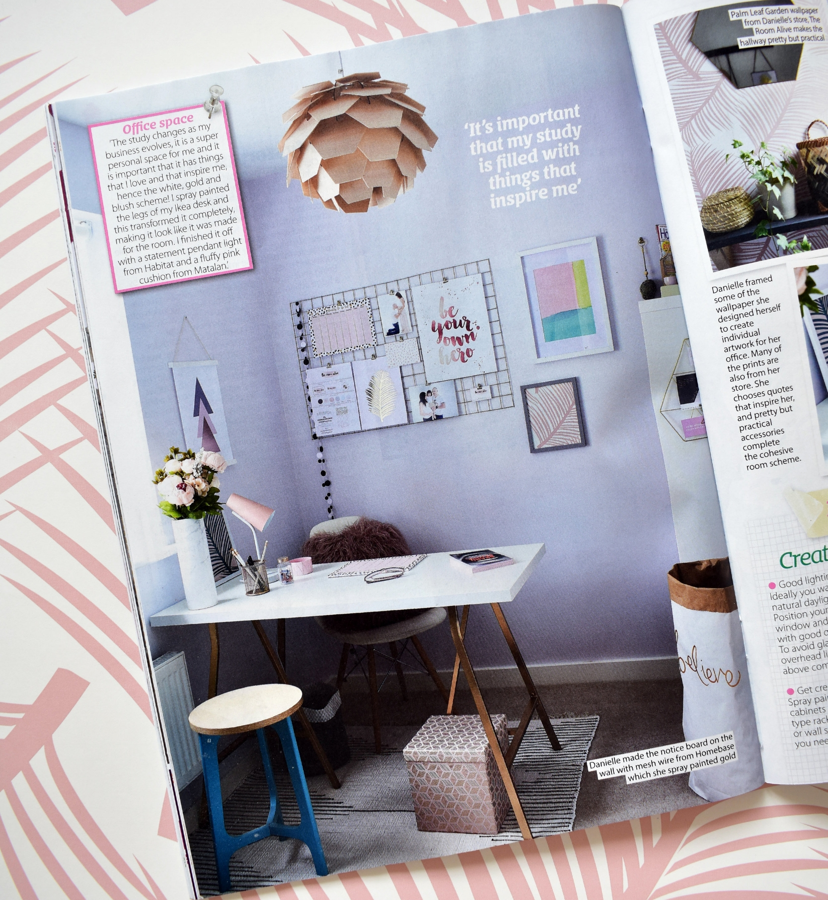 My study featured on Home Style Magazine October 17 Issue