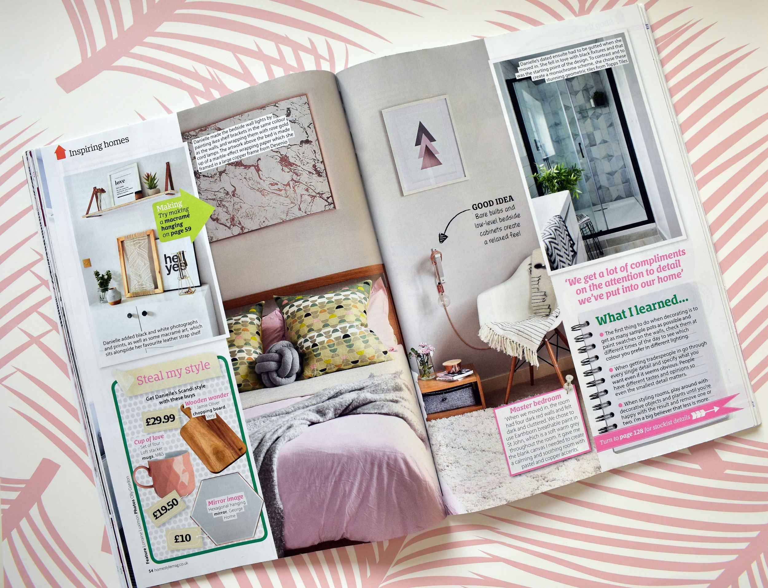 Our bedroom and ensuite featured on Home Style Magazine - October 17