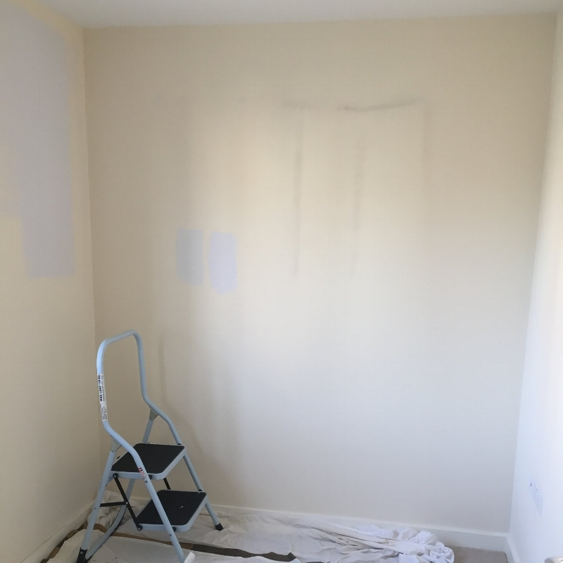 Before, when we moved in and as I started redecorating