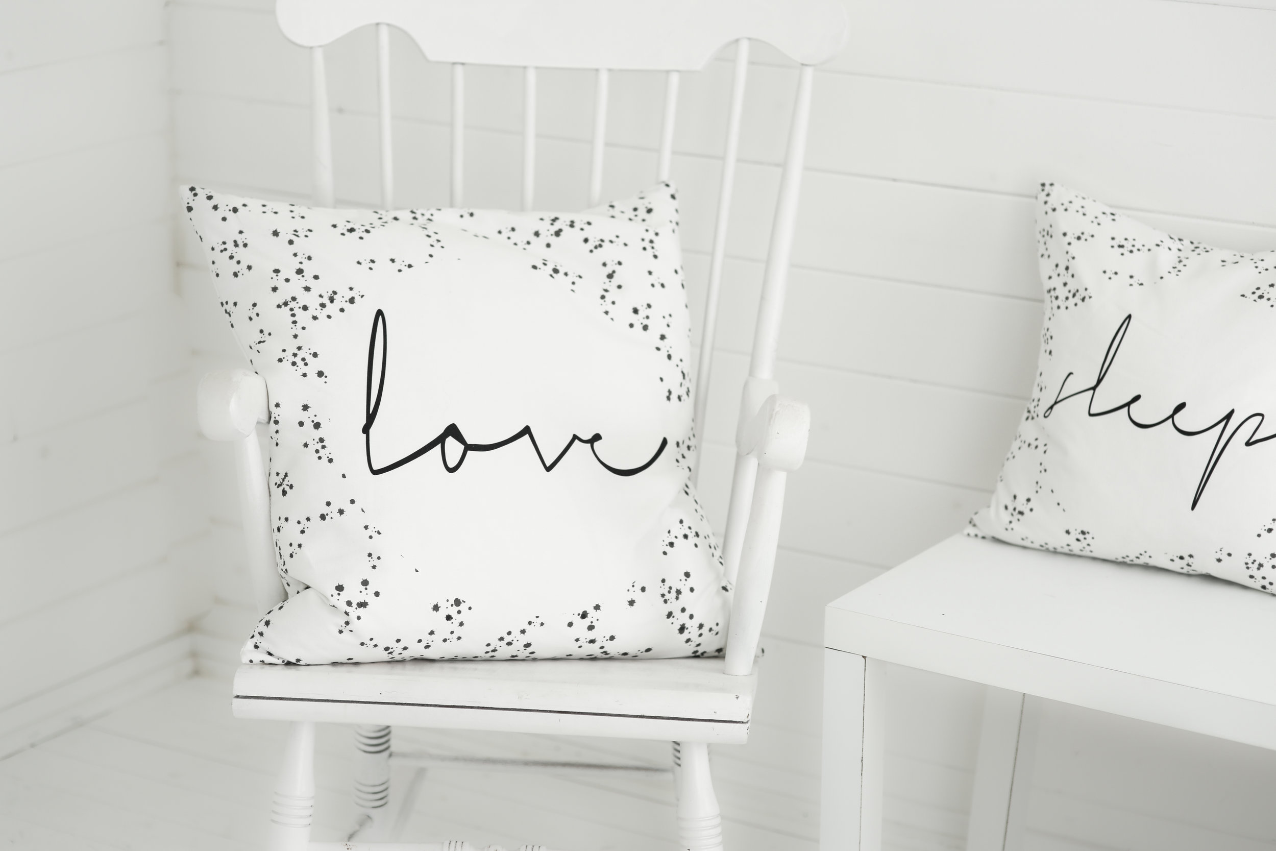 dots cushion the room alive