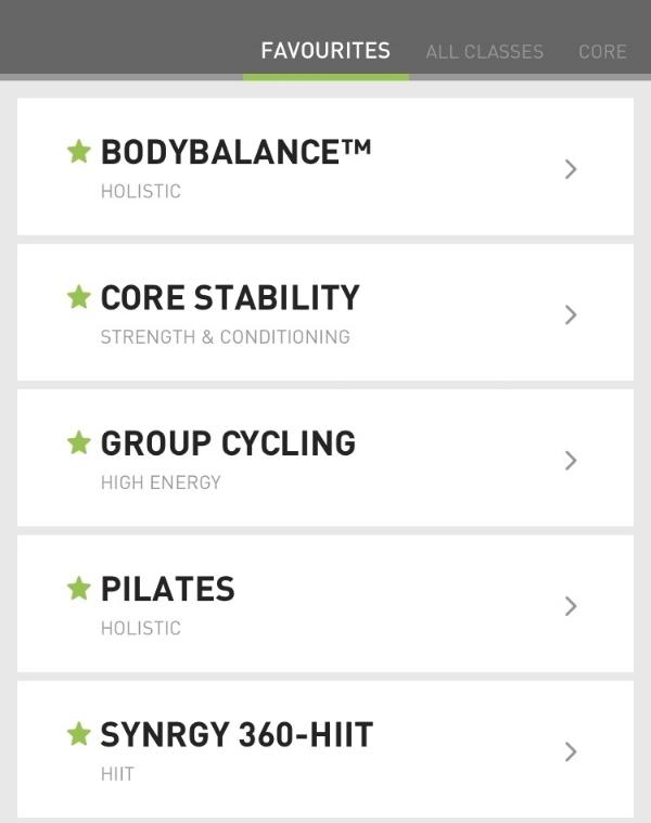 David Lloyd app timetable