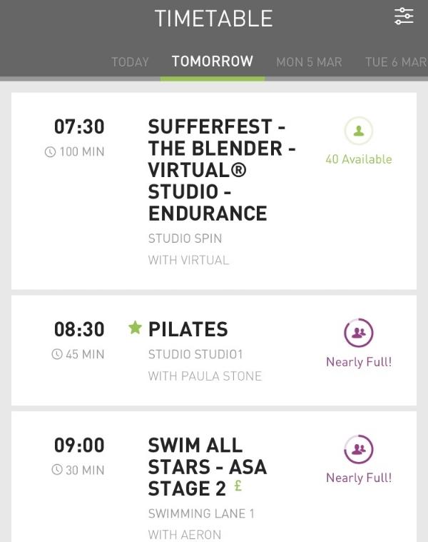 David Lloyd timetable.JPG
