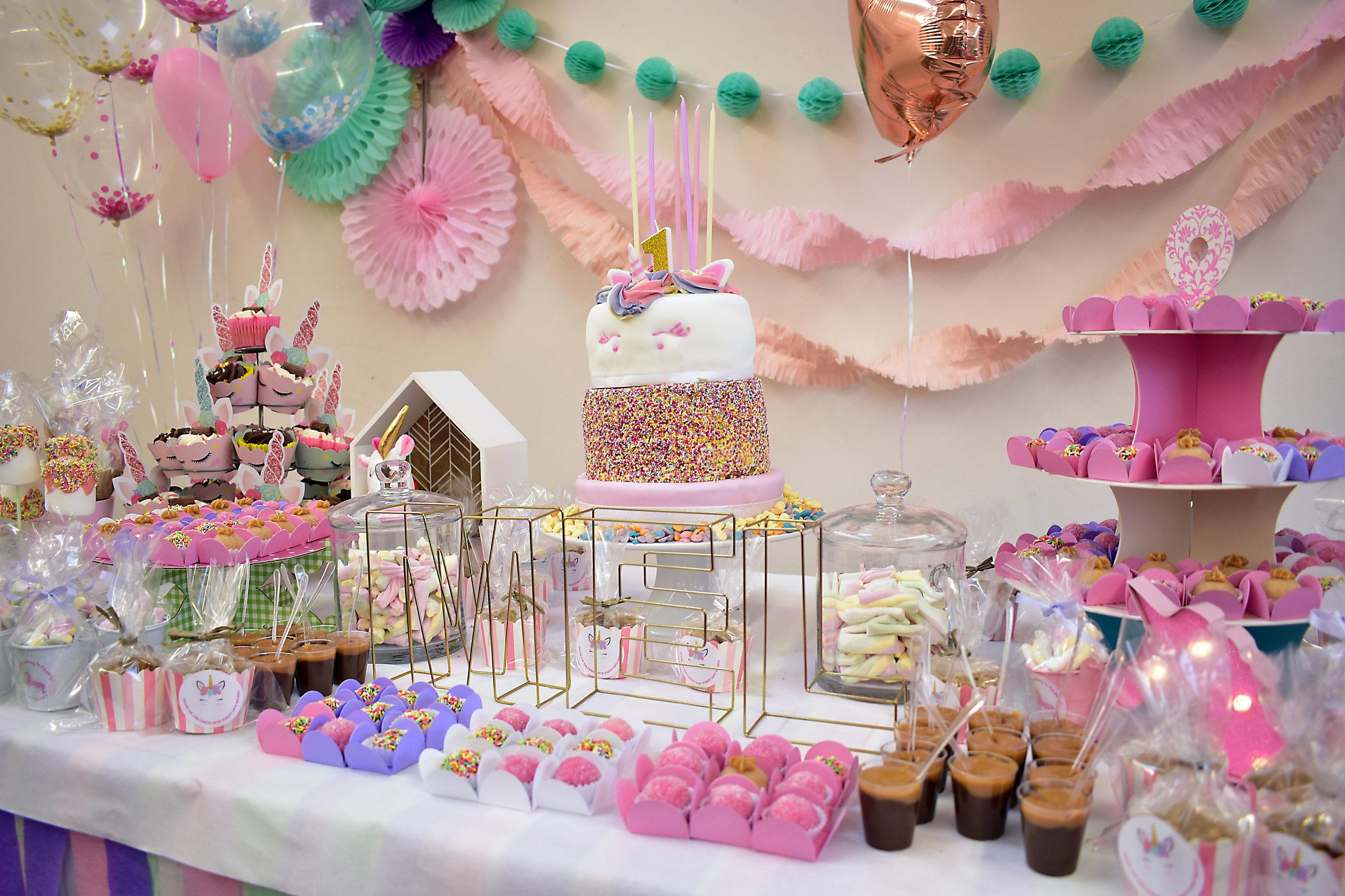 unicorn theme party girl