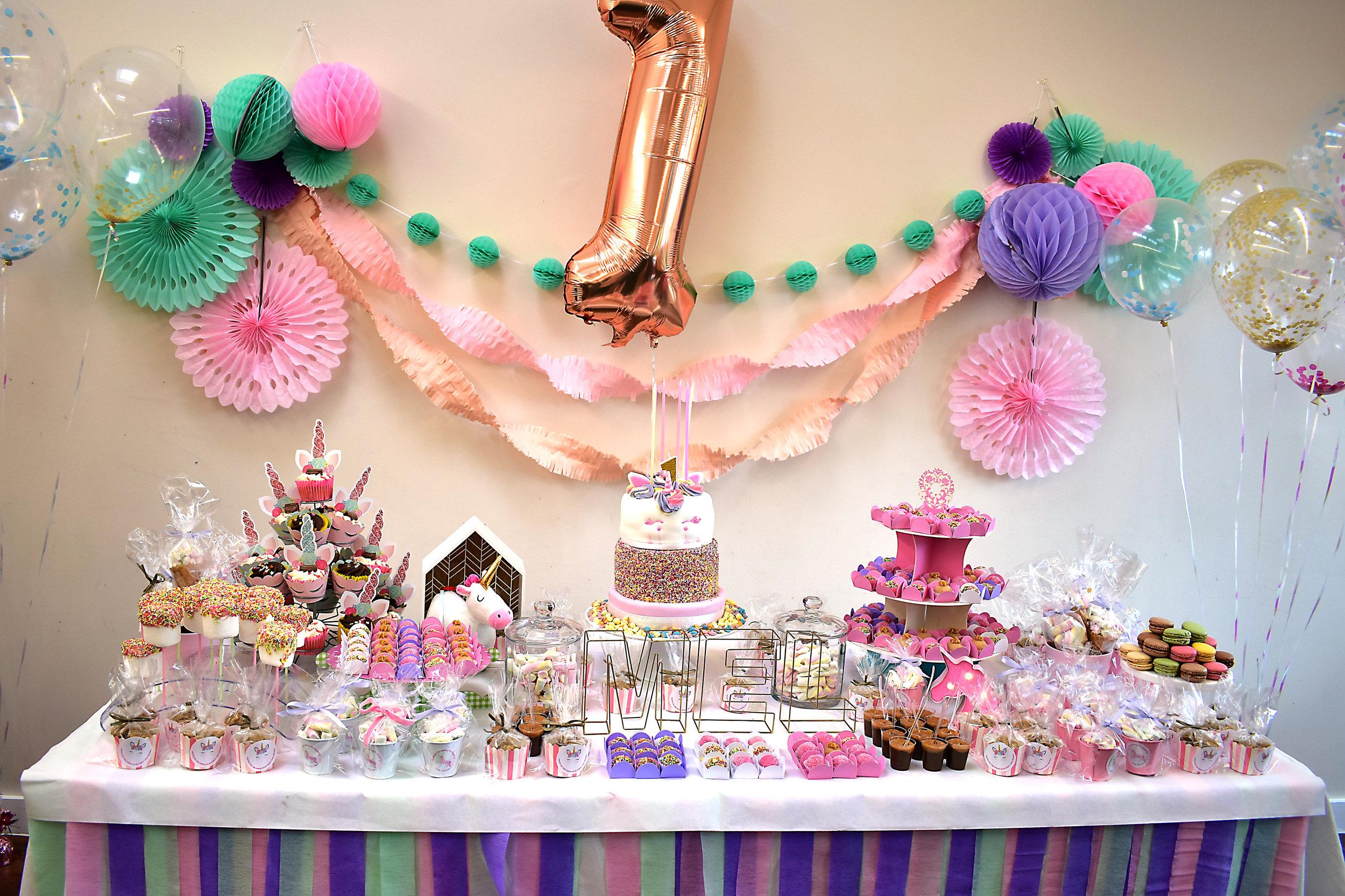 unicorn theme birthday party