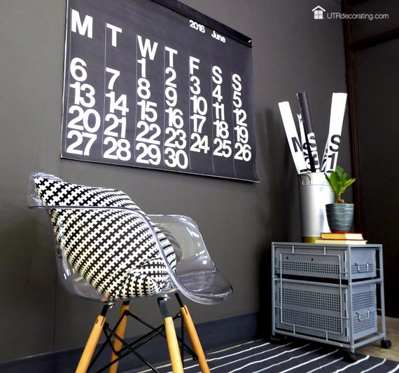 The industrial decor from UTRDecorating fits the Stendig Calendar style perfectly