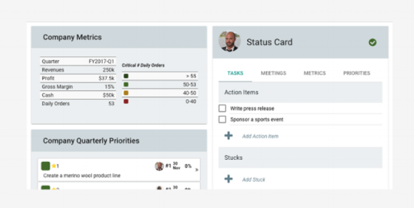 Coaches Dashboard - Status Card