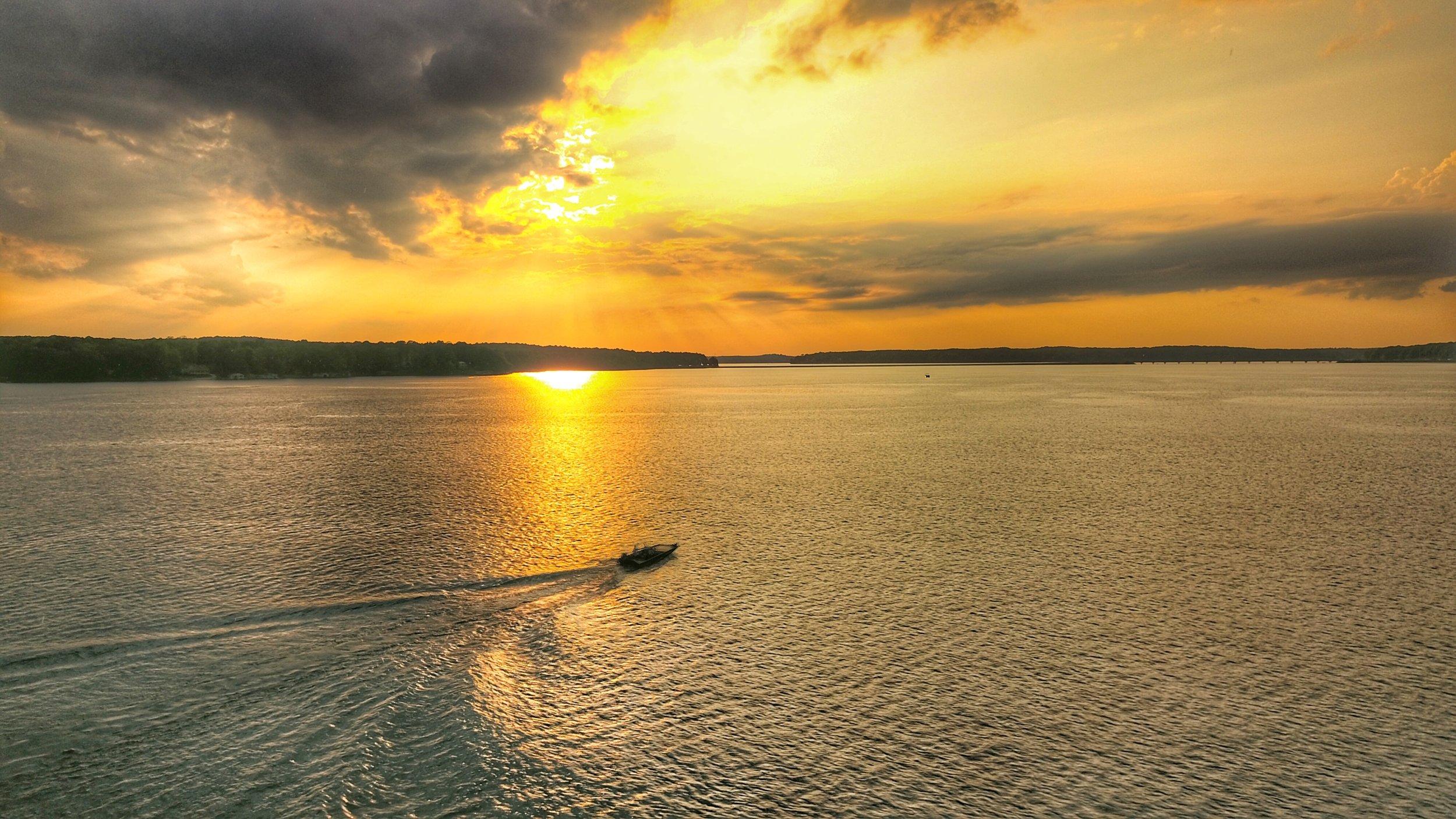 Golden Sunset Lake Gaston