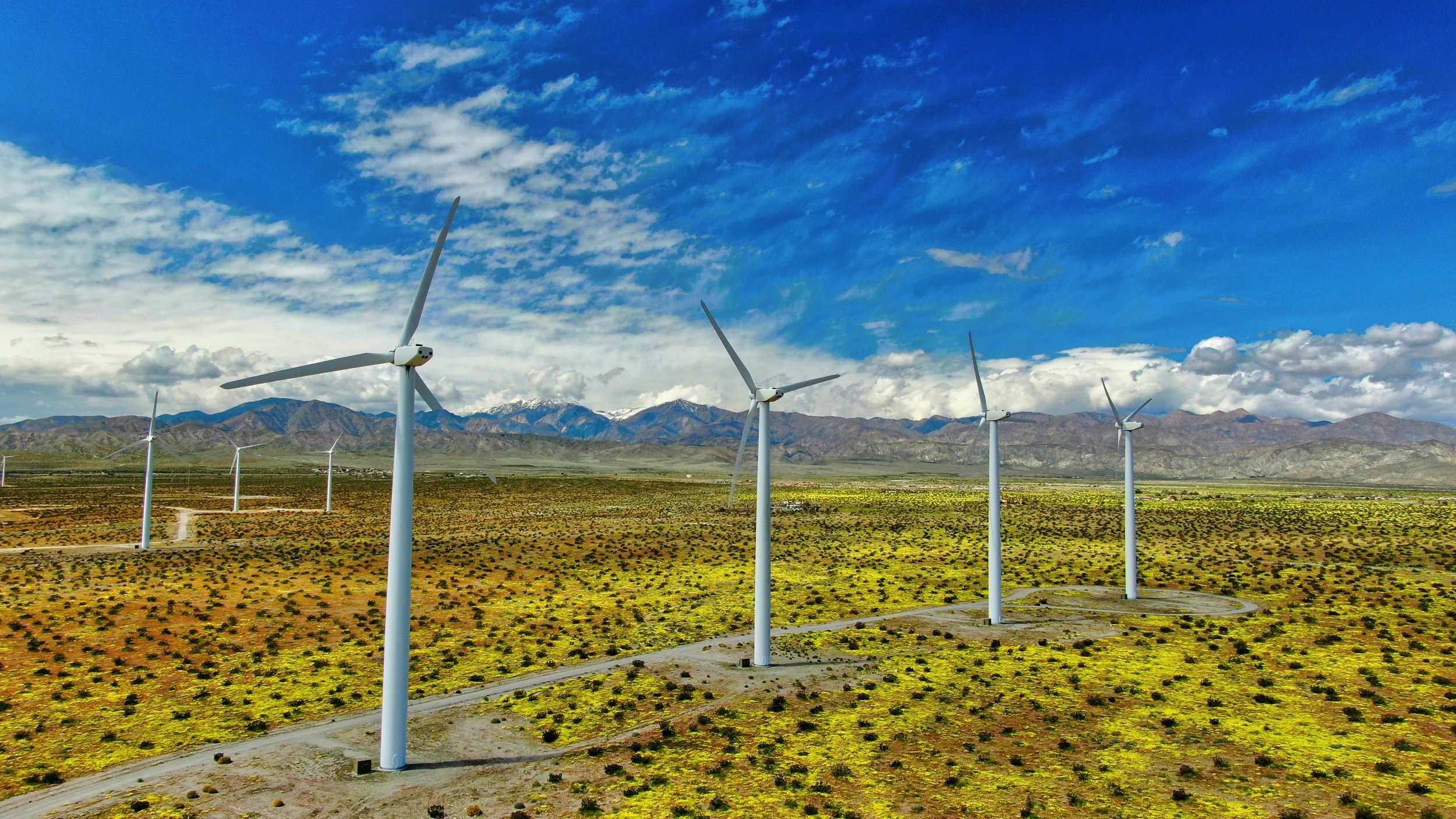Wind  Farm Inspections Palm Springs, California.