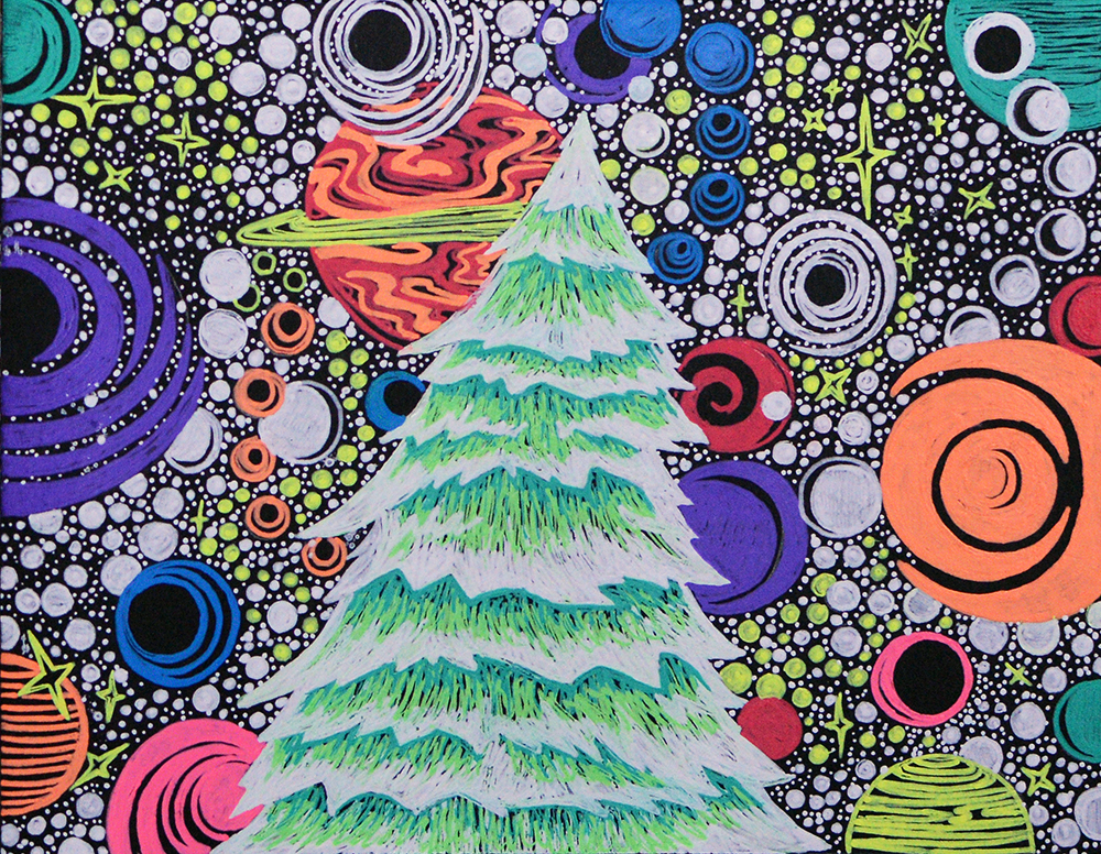 5 x 6.5 Inch Gel Pens  Holiday Card December 2018  *UNAVAILABLE*