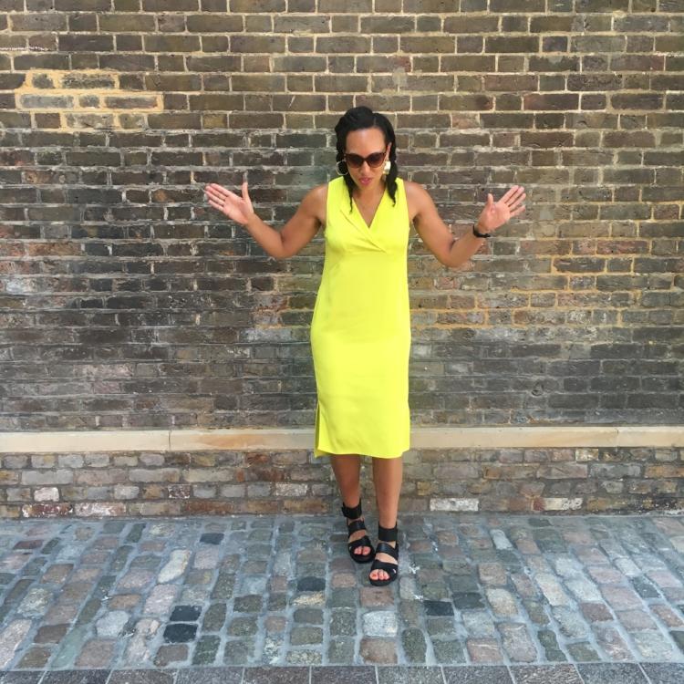 Lime summer dress
