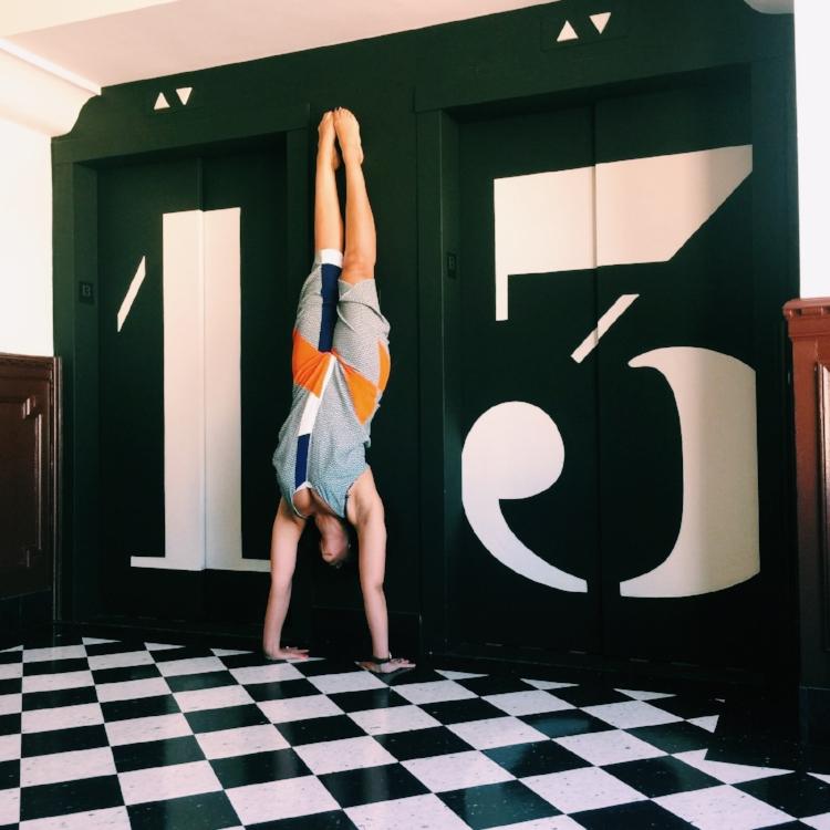 yoga handstand Ace Hotel LA