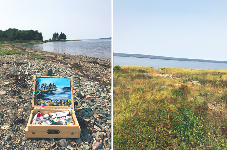 I had never been to Big Pond. In fact, I didn't really know much about it except that it's where Rita McNeil is from. Turns out it's a great little spot for some painting!