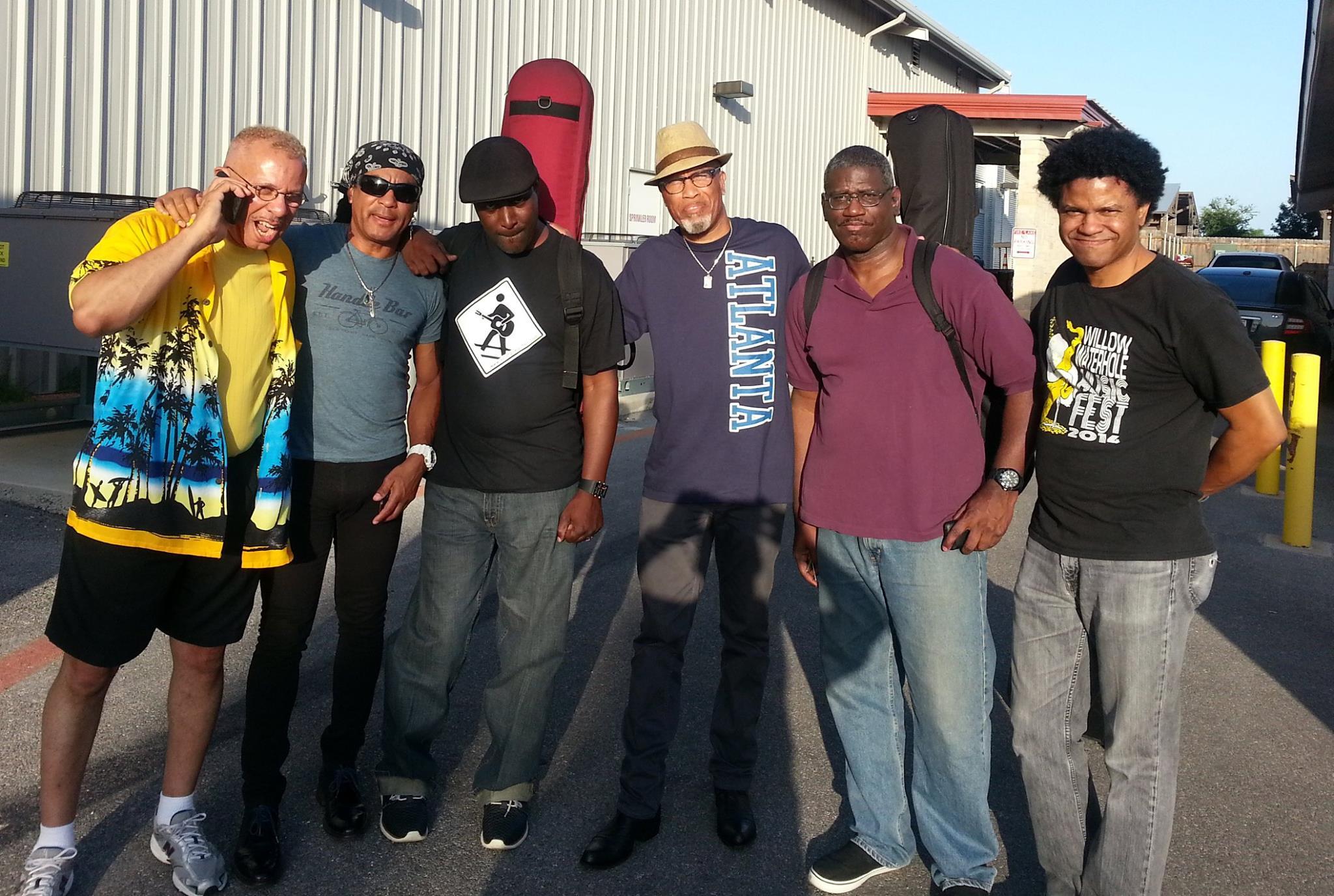San Antonio with the band.