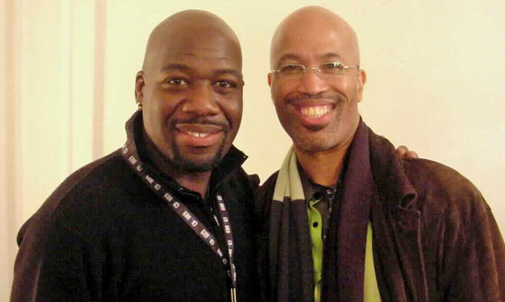 Bob Baldwin backstage with Will Downing @ the Beacon Theatre - Nov. 2001