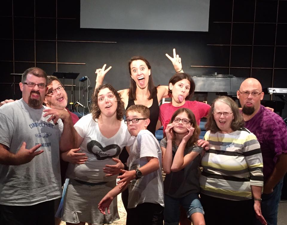 Teaching an improv class at Riverside Chapel's drama team