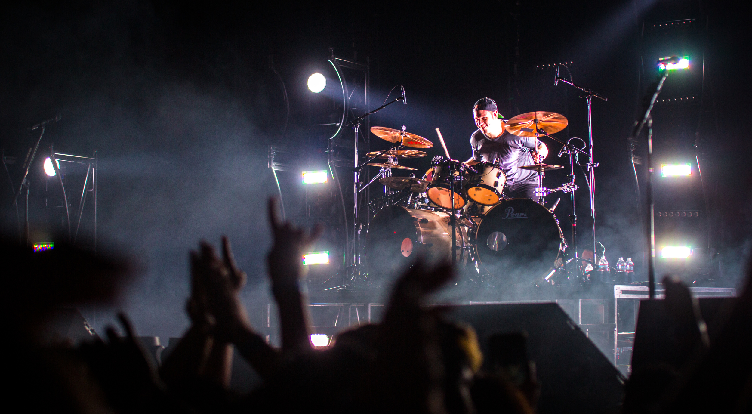 Jason Bowld during the drum solo