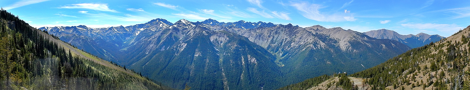 The view from Marmot Pass looking West