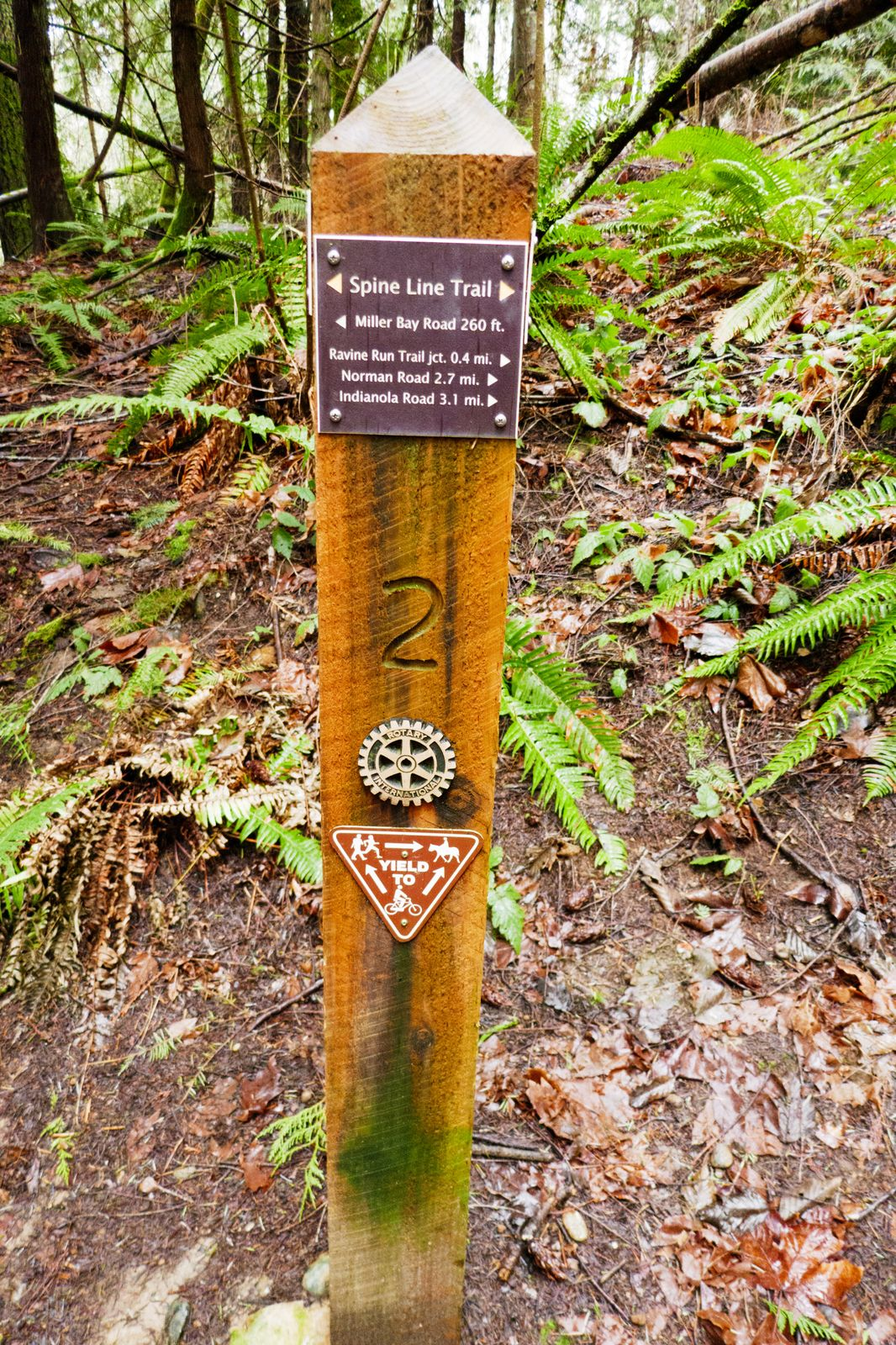 Signage is excellent on the trail