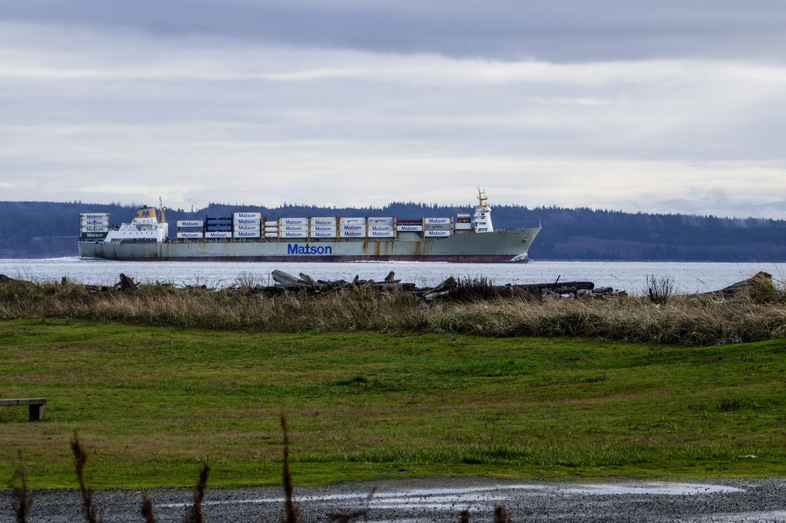 Some of the shipping heading for Seattle or Tacoma harbor