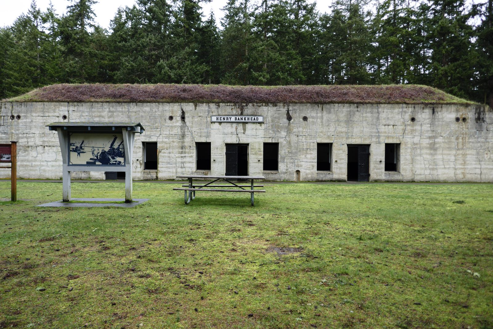 How Henry Bankhead emplacement looks today
