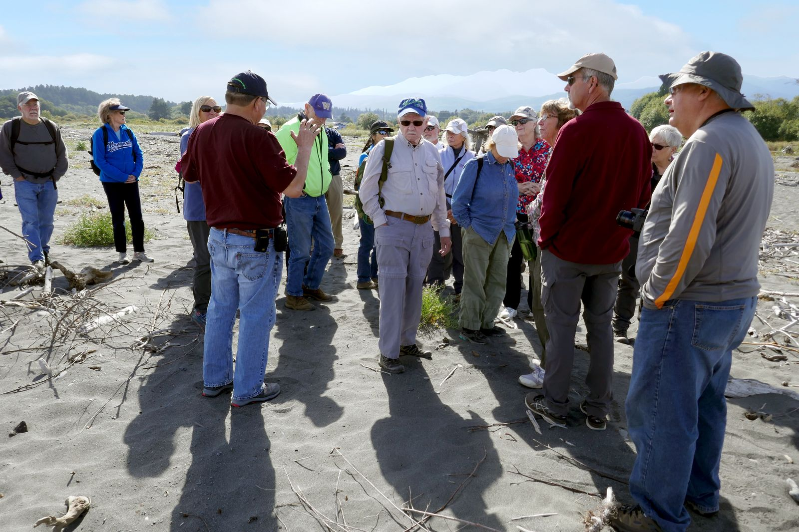Our guide Robert explains how removing the dams changed the shoreline