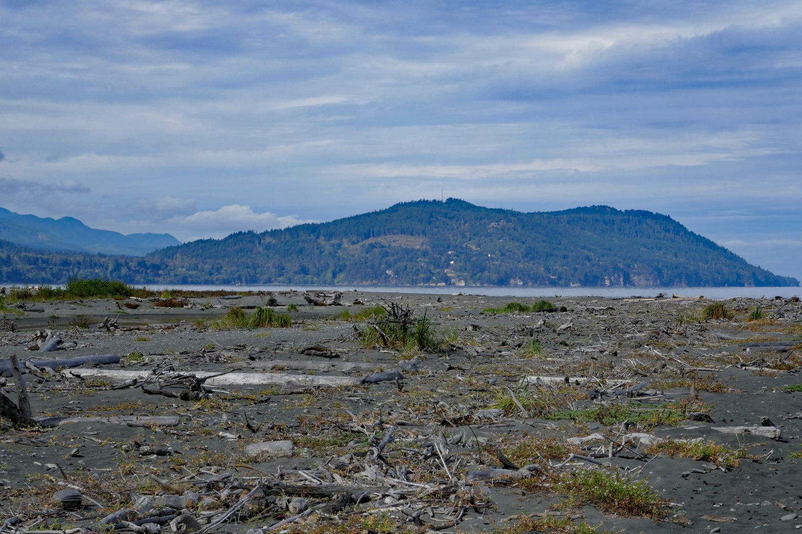 More newly deposited land with the Elwha outlet in the background