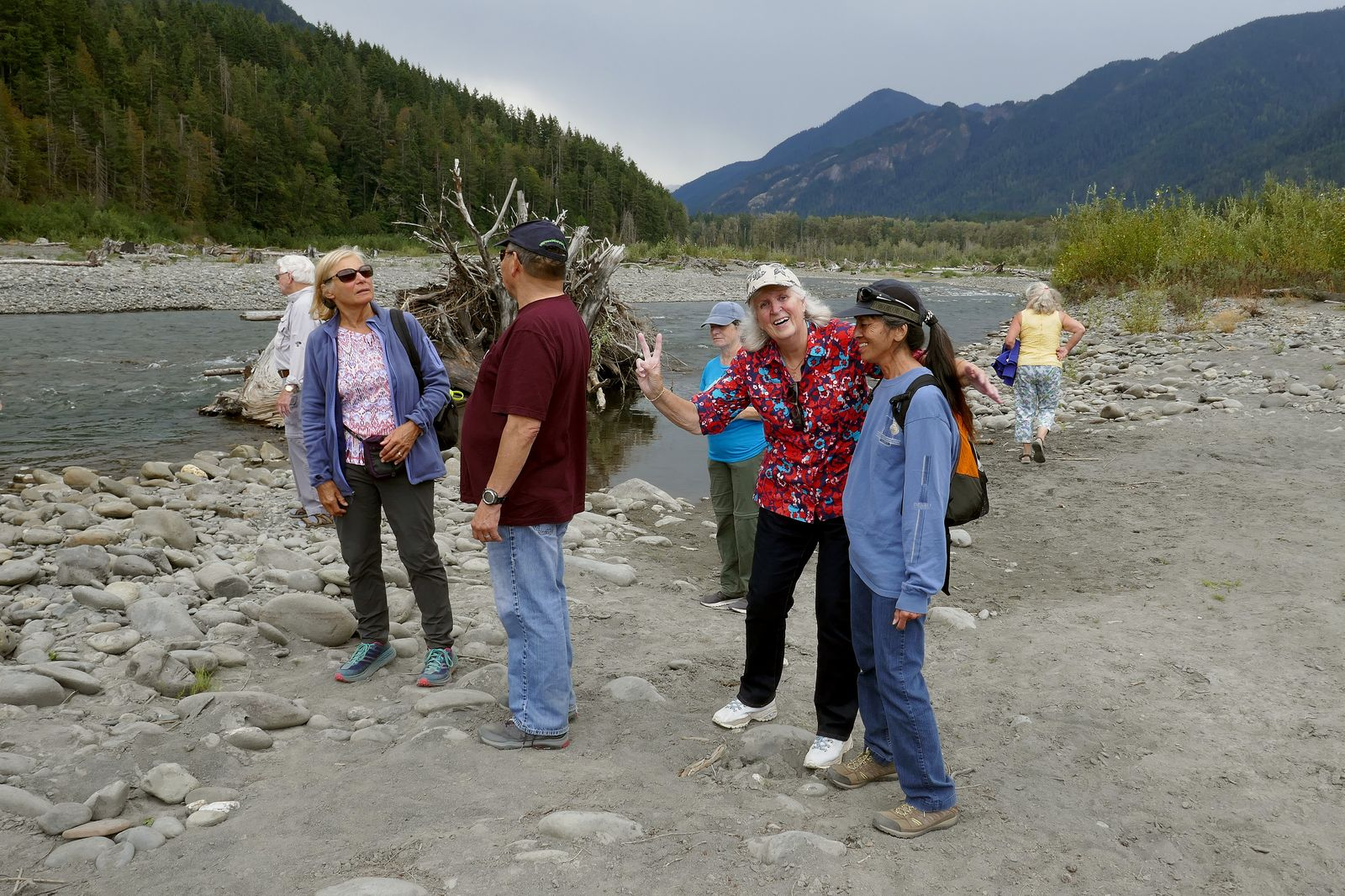 Louise and Sharlene find the Elwha River