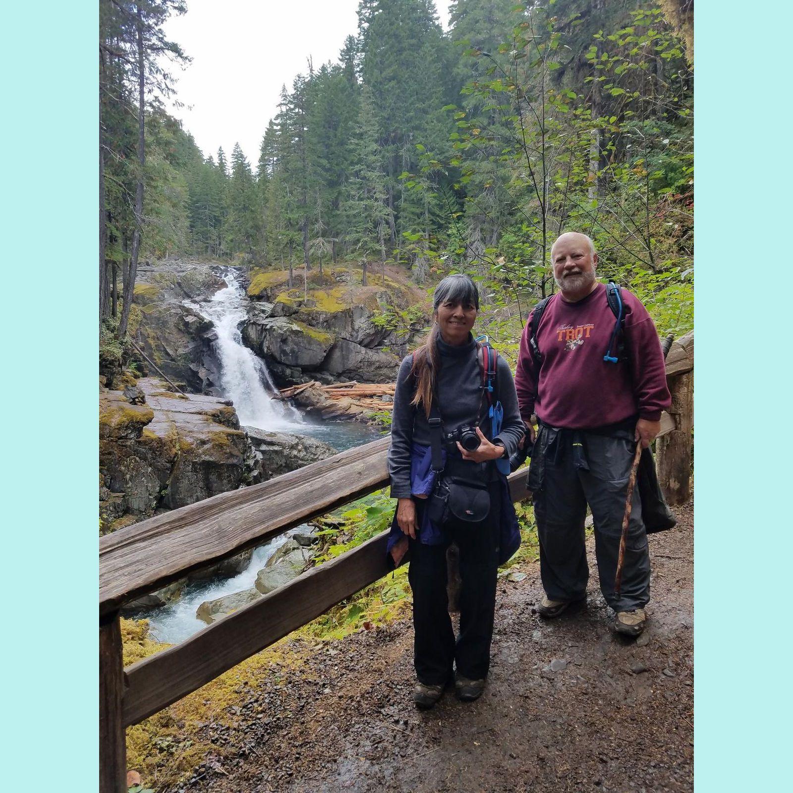 Richard and Sharlene at Silver Falls