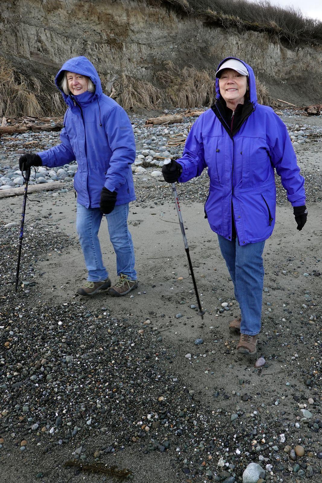 Doreen and Sarah the blue girls
