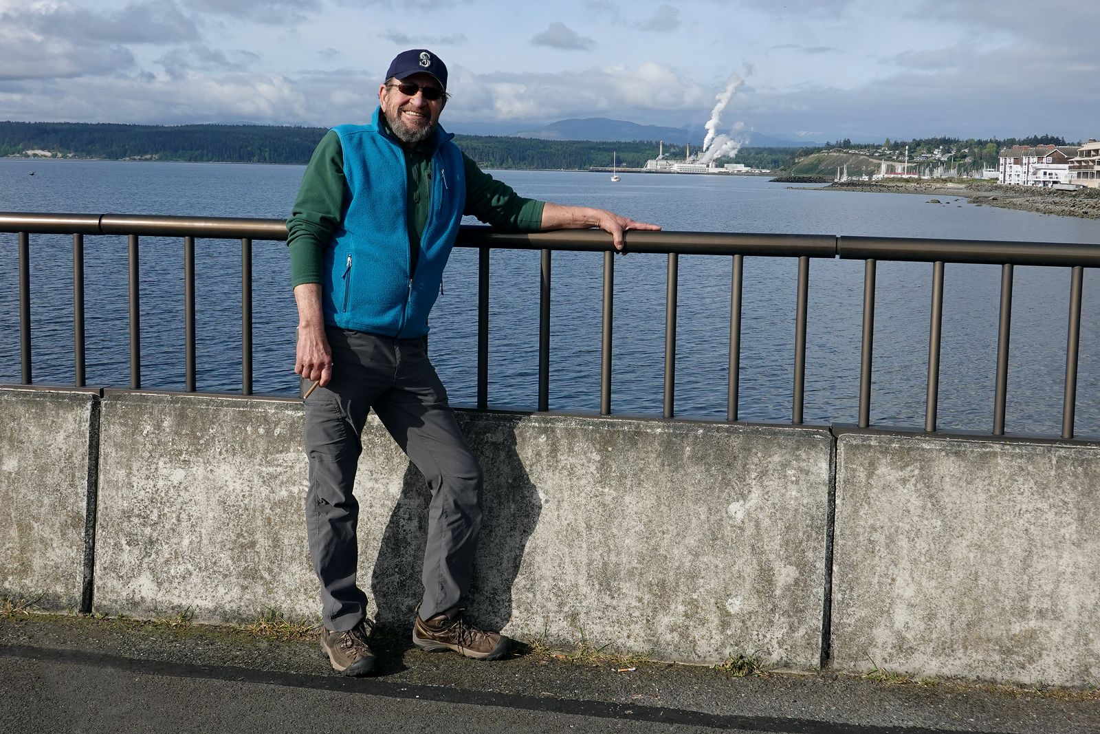 Our hike leader Denny waiting for the ferry