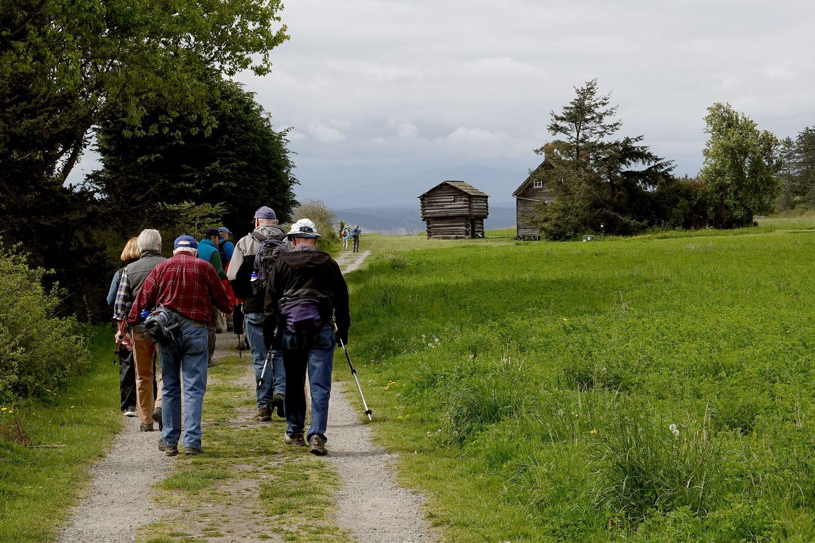 Heading towards the original homesteader's house