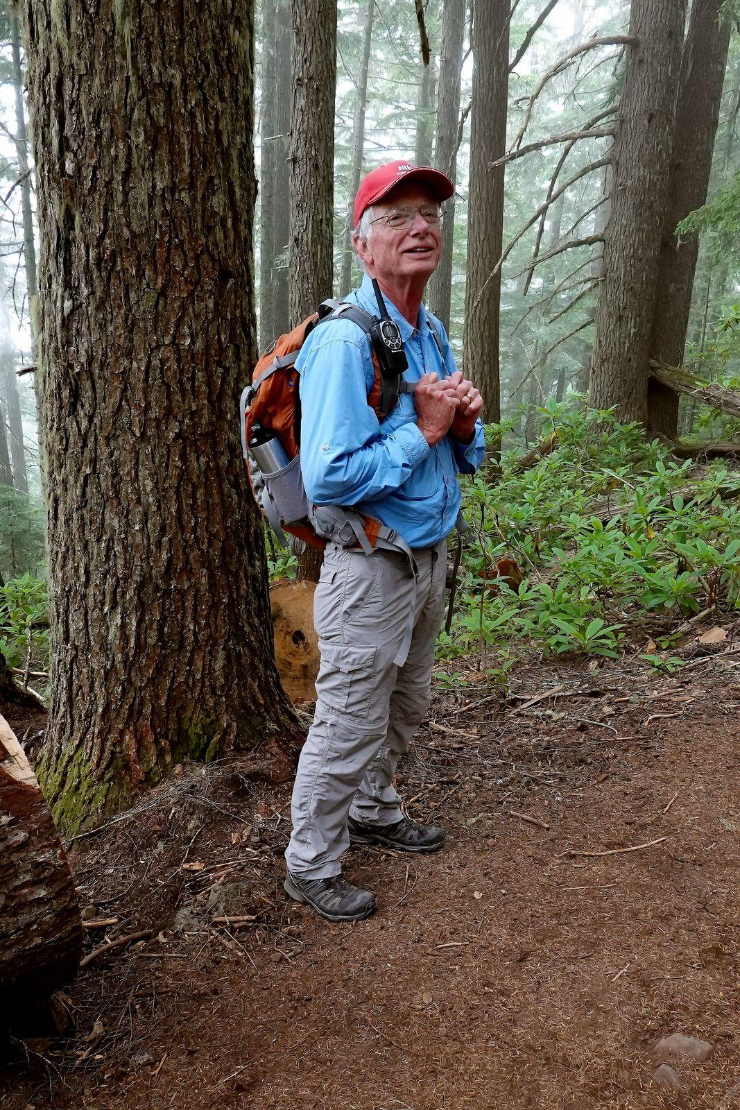 Dean our hike leader takes a break
