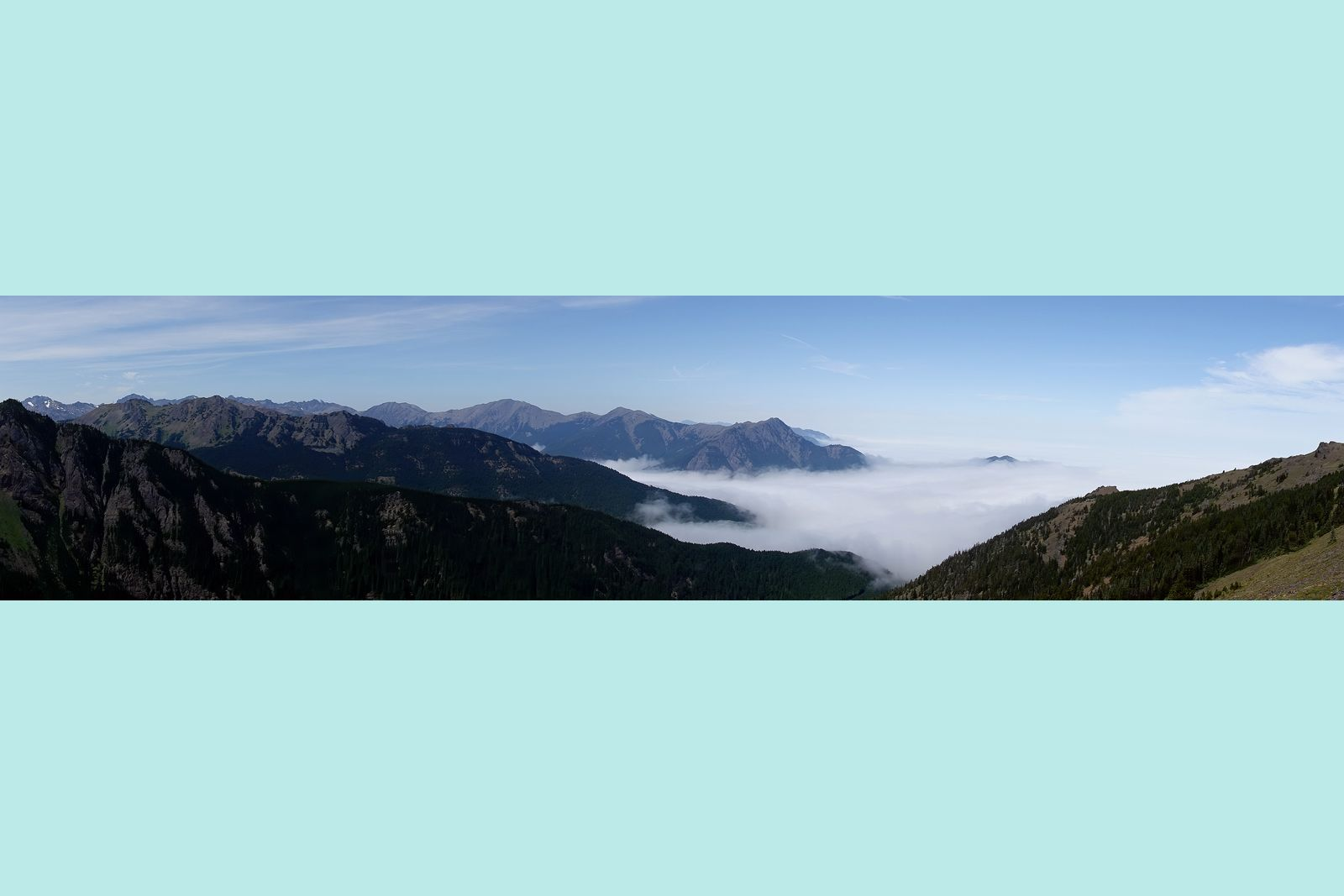 The view from near the top of Mount Townsend