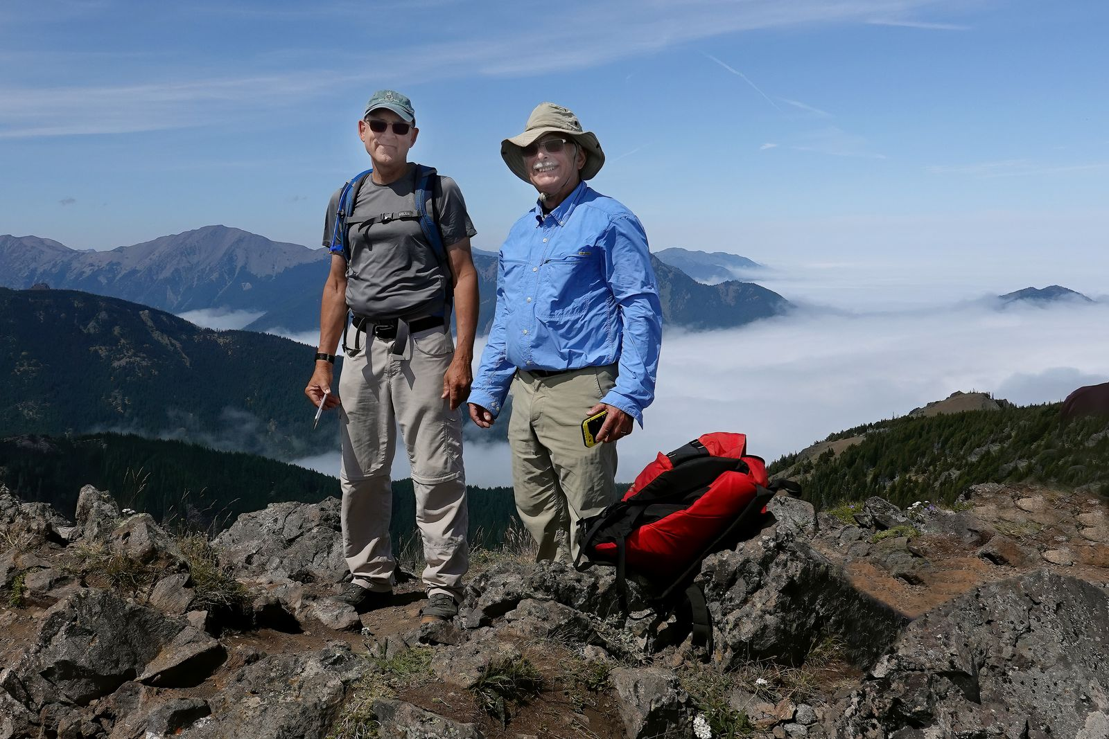 John and David at the top of Mount Townsend