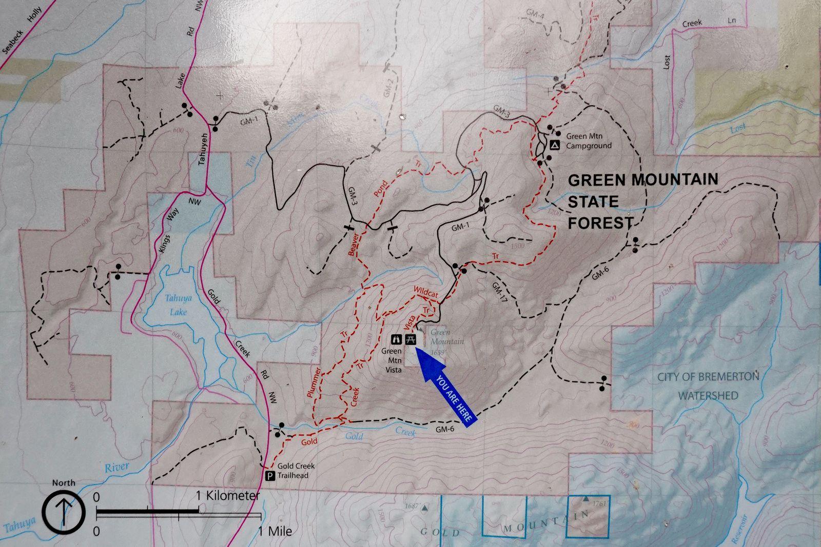 Started Gold Creek Trailhead – turnaround Green Mountain Vista