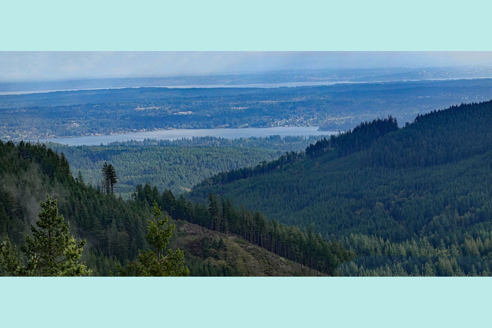 The view toward Seattle – 20 plus miles away