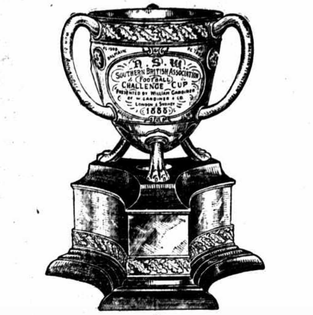 Illustration of the Gardiner Challenge Cup: Newcastle Sun, October 3, 1925