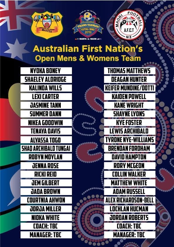 Australian First Nation's 'Mariya' womens and mens teams to play New Zealand Maori