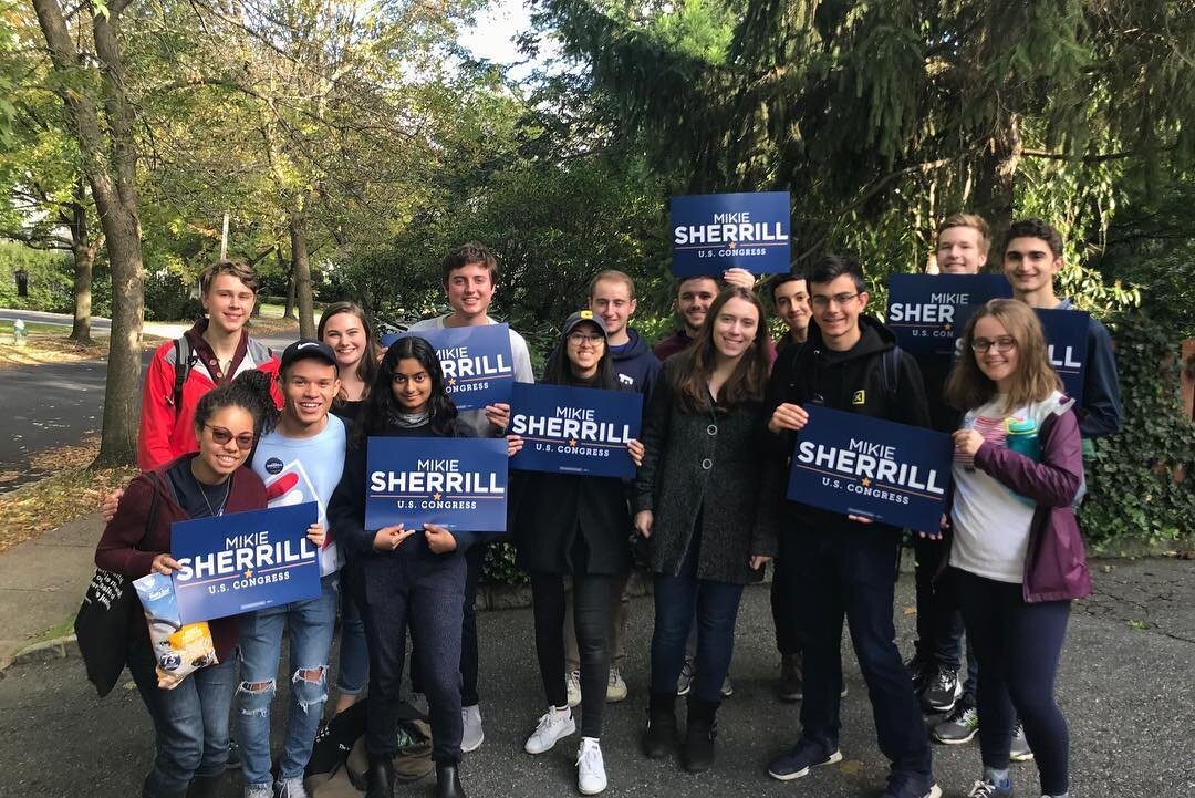 Dems took a trip to New Jersey to knock on doors for Congresswoman Mikie Sherrill!