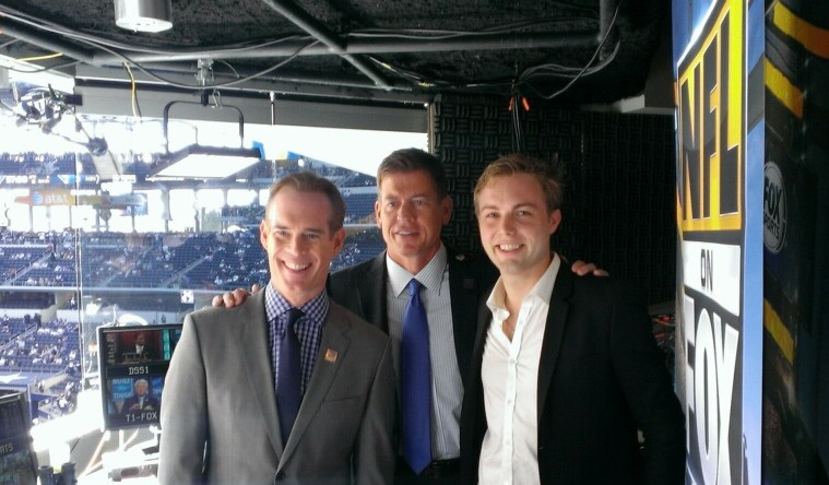 "With Joe Buck and Troy Aikman in the ""NFL on Fox"" Booth"